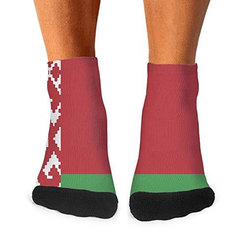 Men's Casual Daily Socks White Russian Flag Athletic Novelty Ankle Crew Training Socks