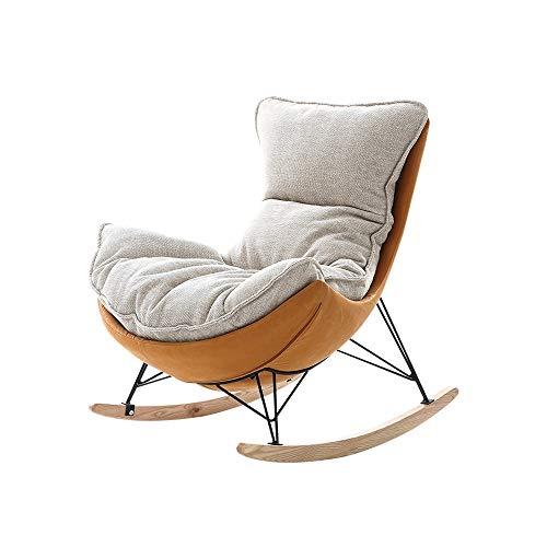 EAHKGmh Schaukelstuhl, Nordic Kleine Faule Lounger Lehnstuhl Startseite Wohnzimmer Balkon Schaukelstuhl Mode Freizeit-Sofa-Stuhl