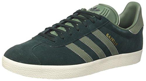 adidas Gazelle, Sneaker Donna, Grigio (Green Night F17/Trace Green S17/Gold Met.), 42 2/3 EU