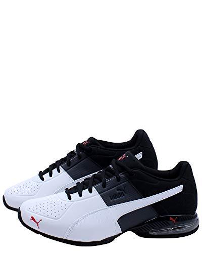 PUMA Men's Cross-Trainer Sneaker, Puma Black/High Risk Red, 8.5