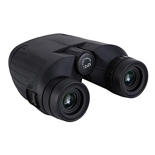 LULUTING CQS con Todo Incluido Cuero Paul prismáticos 12X25 portátil de Mano de Camuflaje Impermeable de Alta definición HD multifunción