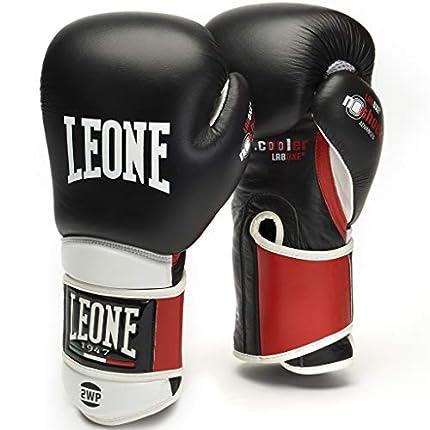 LEONE 1947 Il Tecnico - Guantes de Boxeo Unisex para Adultos, Negro, 10 oz