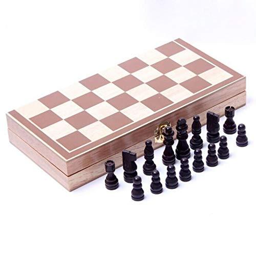 30 * 30CM Folding Board Houten International Stukken Van Het Schaakspel Set, Chesses Mannen Collection Portable Board Game