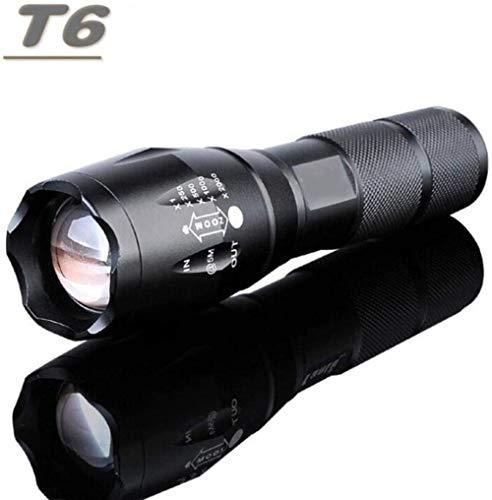 Linterna LED recargable CREE XML T6 linterna 4000 lúmenes 18650 batería Camping al aire libre potente linterna Led T6-T6