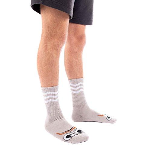 Toy Machine Socken Turtleboy Mustache Grey Einheitsgröße