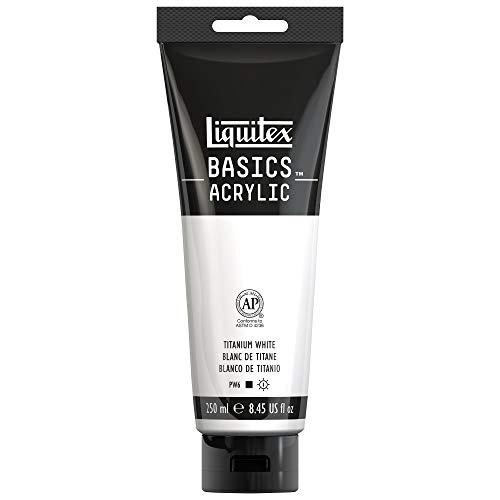 Liquitex BASICS Acrylic Paint, 8.45-Oz Tube, Titanium White