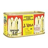Espárragos de Navarra Extra Blancos Extra Gruesos Pelados - Denominación de Origen Navarra - Especial 6-8 Frutos J. Vela 780G. Producto Recomendado - espárragos de un calibre Extra Grueso