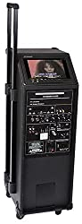 Ibiza Port9 Mobile Multimedia PA complete system 400W (DVD player, USB-MP3, mixing console, 6h battery) incl. VHF radio & cable microphone
