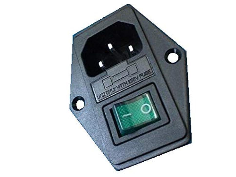 前任者リーク踊り子<AC100V電源用ソケット?コネクタ通販?販売><ヒューズは付属なし PL-LED付 1回路1接点スイッチ付O>1個入<swp-314>