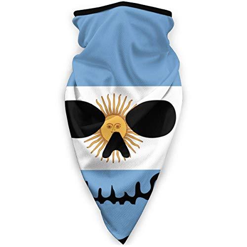 UKUK Calavera Esqueleto Bandera Argentina Multifuncional Headwear Leggings Magia Bufanda Mascarilla Pasamontañas Deportes Yoga Moto Equitacion Running