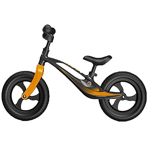 XGYUII Bicicleta de equilibrio de aleación de aluminio para niños sin pedal de 1 a 6 años de edad, para entrenamiento infantil, versión competitiva de la bicicleta de equilibrio azul-negro
