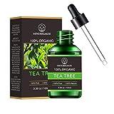 Aceite esencial de árbol de té orgánico, aceites aromáticos de aromaterapia orgánica 100% aceite esencial terapéutico puro de grado superior (100 ml)