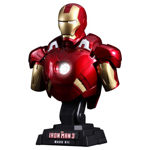Hot Toys Iron Man 3 1/4th Scale Iron Man Mark VII Bust image