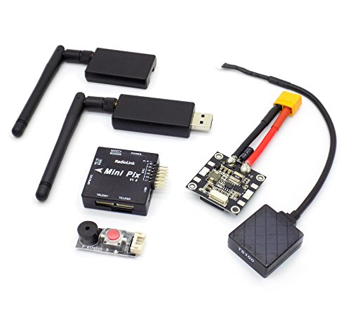 USAQ Mini PIX F4 Flight Controller M8N GPS Voltage Module 915mHz Telemetry Buzzer LED