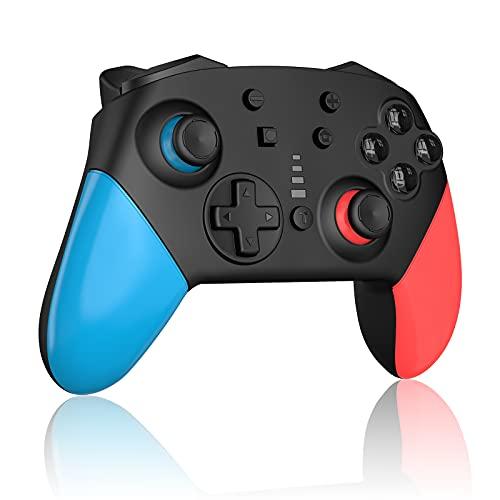 Sanyee Wireless Nintendo Switch Controller ,Bluetooth Wireless Controller mit 1200-mAh-Polymer-Lithium-Akku und Dual Shock Joysticks Spiele Controller
