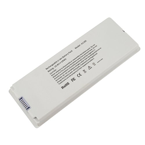 """Futurebatt New A1181 Battery for Apple 13"""" MacBook A1185 (Mid. / Late 2006, Mid. / Late 2007, Early/Late 2008, Early/Mid. 2009) Fits MA254 MA255 MB402 MA566 MA561 MA699 MA700 MB061 MB062 MB402 Battery"""