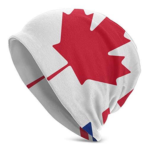shenguang Canada - UK Flag Männer & Frauen Einfarbiger Beanie-Hut - Stretchy & Soft...