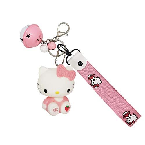 sailorsunny Hello Kitty Cute Key Chains Women Cute Car Key Chain For Women Cartoon Key Accessories Pink Purse Charms For Handbags Charms Anime Cat Keychains Braided Rope Womens Keychain Cartoon Key Ring, Medium