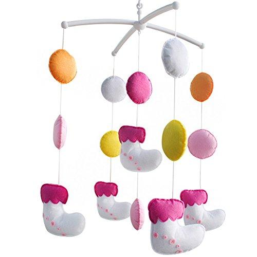 Décoration de pépinière de cadeau de jouet mobile de lit de bébé fait main pour 0-2 ans, MQ46