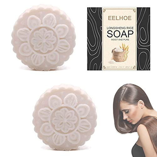 Organic Hair Care Rice Soap, Natural Solid Shampoo Bar, Anti Hair Loss, Repair Damaged Hair, Moisturize Hair (Citrus)