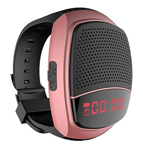 NBWS - Tragbare Sport Armbanduhr/Armband,Digitaler Wecker, Freisprechfunktion, TF Karten-Unterstützung,Selbstanslöser,USB-Unterstützung