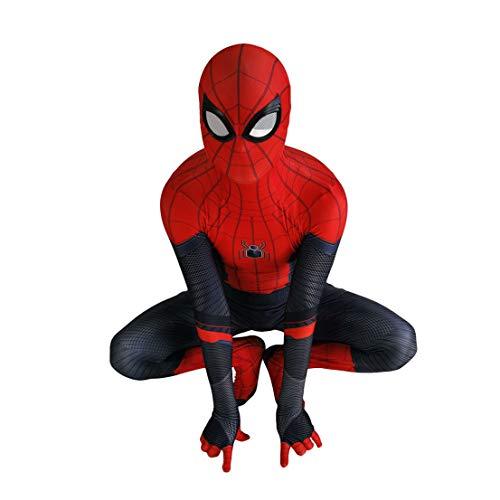 MODRYER El Hombre Araña De Cosplay del Traje del Hombre Araña Unisex Mono Superhéroe De Halloween Cosplay Bodies Lycra 3D Imprimir Spider Man Disfraz Traje, Far from Home-Adult L 160~170cm