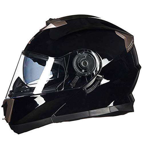 Cascos modulares de doble visera para motocicleta Casco abatible para motocicleta con doble casco de vidrio Sunny Visor Moto Racing Helme