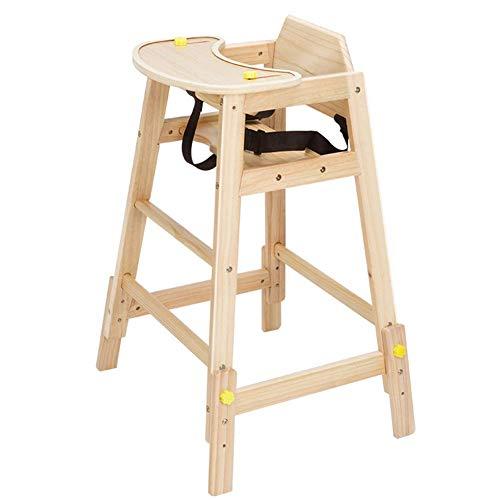 YLCJ hoge stoel voor baby's, eettafelstoelen, veiligheidsgordel, verstelbaar, multifunctioneel, van massief hout (kleur: blauw, maat: groot) Large Hout