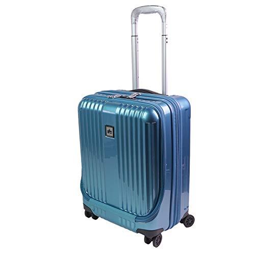 [LOGOS(ロゴス)] キャリーケース スーツケース トランク ハード 静音 軽量 軽い 機内持ち込み 出張 旅行 大容量 41L 1泊 2泊 HINOMOTO ダブルキャスター 360度 動きやすい TSAロック おしゃれ LOGOS (ブルー)