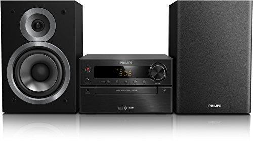 Philips BTM5120B/12 Mini Kompaktanlage (CD/USB/Radio, Bass Reflex, Bluetooth) schwarz