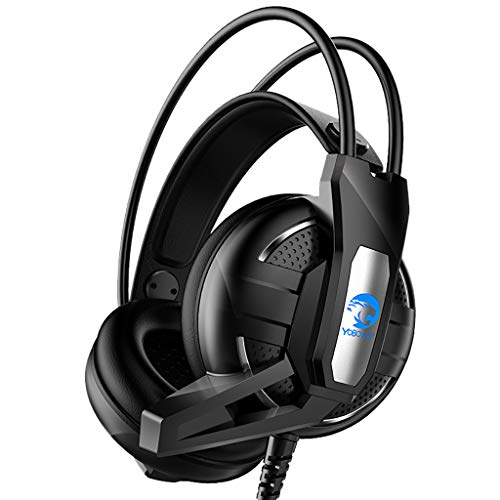 showsing-elektronische Hoofdband Hoofdtelefoon - Surround Stereo Gaming Headset - USB 3.5mm Geluidsisolerende Microfoon met Microfoon voor PC Hot