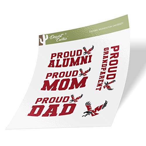 Eastern Washington University EWU Eagles Sticker Vinyl Decal Laptop Water Bottle Car Scrapbook (Family Full Sheet)