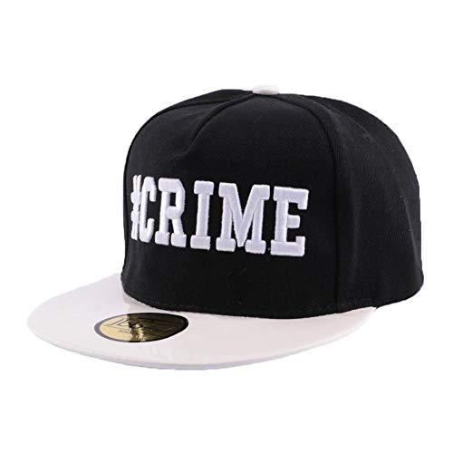 JBB COUTURE Snapback Crime Noire et Blanche - Mixte