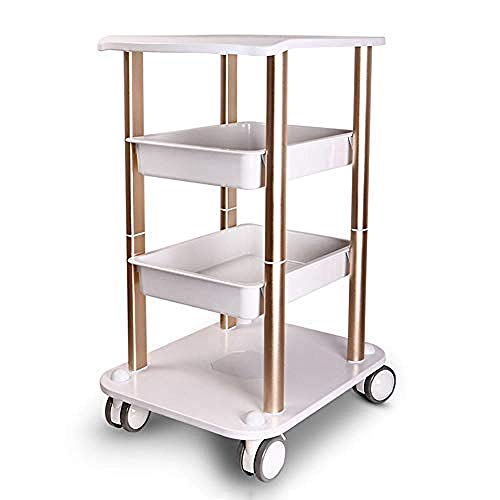 WLABCD Carts,3 Layers Tool Carts Dental Medical Service Cart,Multifunctional Mobile Workbench Polyethylene with Casters It Can Also Be Used in The Garden Kitchen Beauty Shop High Capacity/G