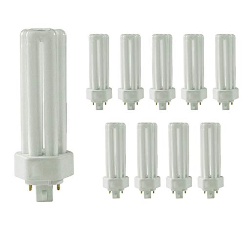 Sterl Lighting - Pack of 10 PLD Bathroom Mirror Compact Fluorescent Lamps (Plugin Double U-Shaped Tube Bulb), 13 Watts, 120 Volts, GX23-2 Base, 6500 Kelvin, 680 Lumens