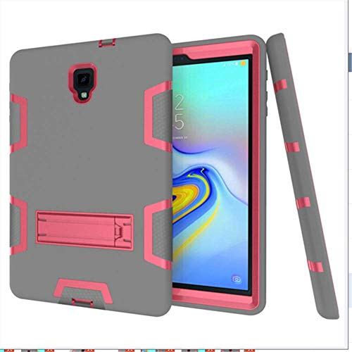 DUDUCHUN For Samsung Tab A 10.5 2018 Case for Galaxy Tab A 10.5 SM-T590/T595 Case Heavy Duty Rugged Shockproof Case with Trifold Stand Auto Wake/Sleep Cover,gray + rose red