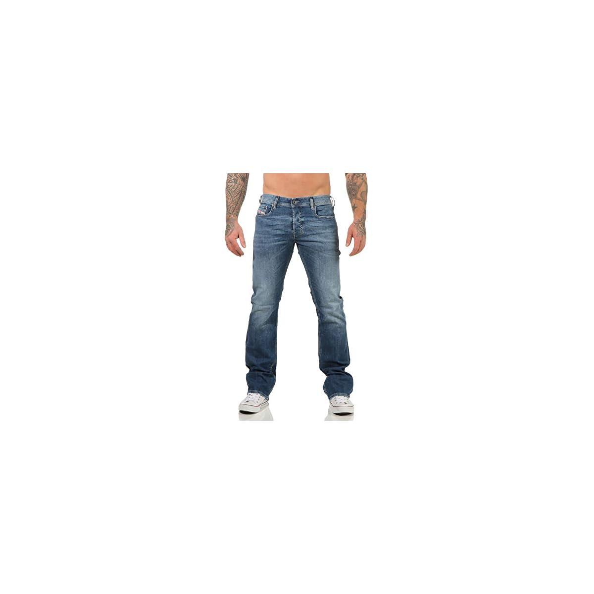 Diesel Herren Zatiny Bootcut Jeans Blau
