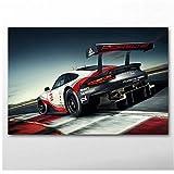 Unbekannt Leinwand Poster und Drucke Porsche Rennwagen