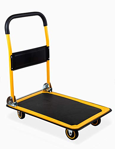 MaxWorks 80876 28.75' x 18.75' x 33' Foldable Platform Truck Push Dolly-330 lb. Weight Capacity-with Swivel Wheels