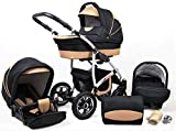 Lux4Kids 3 in 1 Combi pram Pushchair Stroller...