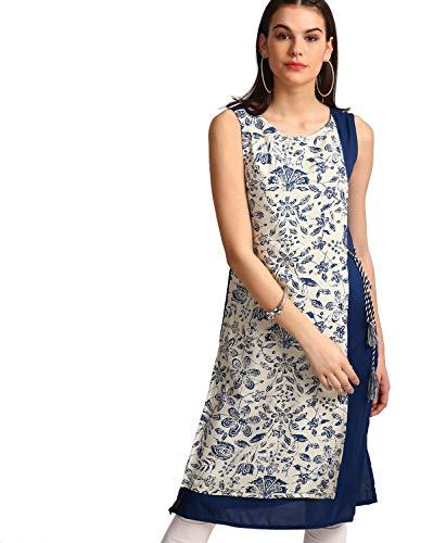 Morpankh by FBB Floral Print Layered Kurta Blue