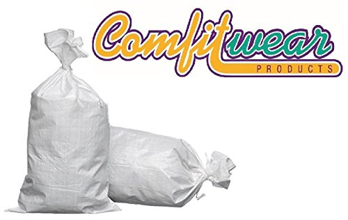 17 X 27 Woven Polypropylene Sand Bags with Ties & UV Protection (100 Bags)
