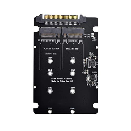 CY PCIE a SATA Adaptador SFF-8639 NVME U.2 a Combo NGFF M.2 M-Key SATA PCIe SSD Adaptador para placa base Reemplazar SSD 750 p3600 p3700