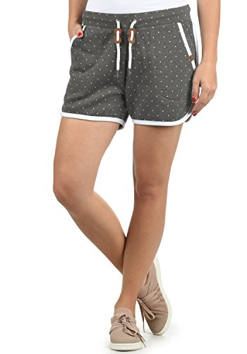 BlendShe Sanya Pantalón De Chándal Corto Sweat- Shorts para Mujer con Forro Polar Suave Al Tacto, tamaño:XS, Color:Pewter Mix (70817)
