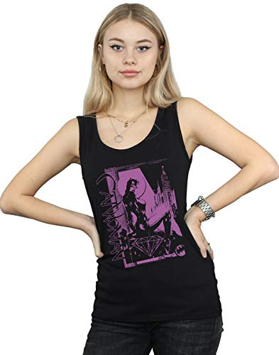 DC Comics Mujer Justice League Catwoman Vote For Batman Camiseta Sin Mangas Negro XX-Large