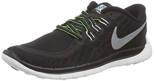 Nike Jungen Free 5.0 Flash GS Low-Top, Schwarz (Black/Reflect Silver-SMMT Wht), 36 EU