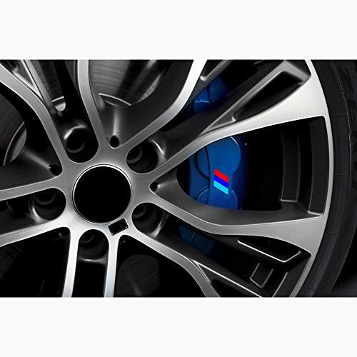 Autodomy M Bremsenaufkleber Bremsen Bremssattel Aufkleber Paket 4 Stück für Auto