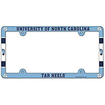 EliteAuto3K UNC University of North Carolina Tar Heels License Plate Frame Cover Slim Design NCAA Car Accessory Ideal Gift for Sports Fans /& Supporters 12.25 x 6.25