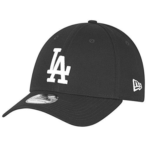 New Era Los Angeles Dodgers 39thirty Stretch Cap League Essential Black/White - S-M
