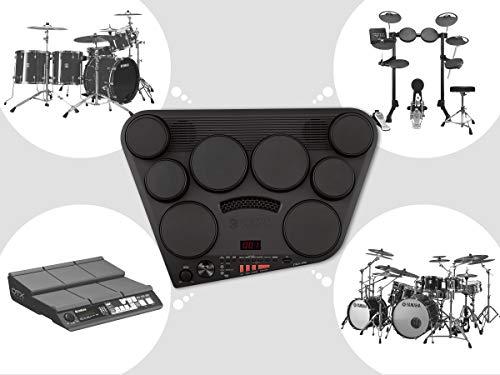 Yamaha DD-75 Batteria Elettronica Portatile, 8 Pad Dinamici, 570 Suoni in 75 Kit, Modalit? Percussione con 105 Canzoni, Funzione di Registrazione, Compatibile con Cuffie, Nero